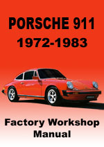 porsche 911 1972-1983 Workshop Manual