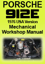 Porsche 912 E 1976 USA Version Workshop Manual